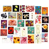 30 Pack of Blank Floral Greeting Cards
