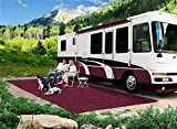 Prest-O-Fit 21154 Wine 6' x 15' Patio Rug