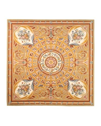 Roubini Venetian Hand Knotted Wool & Silk Rug, Multi, 8′ Square