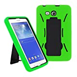 2014 Samsung Galaxy Tab 3 Lite 7.0 7 inch T110 Case, Kuteck® Armor Hard Box Hybrid Protective Cover Case w/ Built In Stand for Samsung Galaxy Tab 3 7