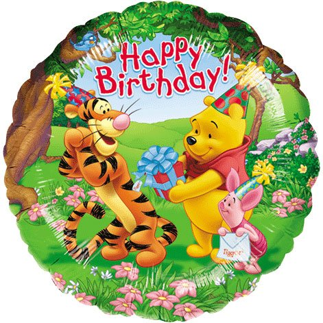 Party Mylar Foil Balloons Shaped Anagram Collection (Pooh and Friends)