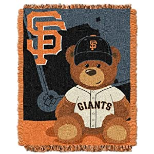 MLB San Francisco Giants Field Woven Jacquard Baby Throw Blanket, 36x46-Inch by Northwest