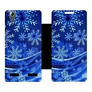 Phone Candy Designer Flip Cover with hi-res printed Vinyl sticker wrap-around for Lenovo A6000