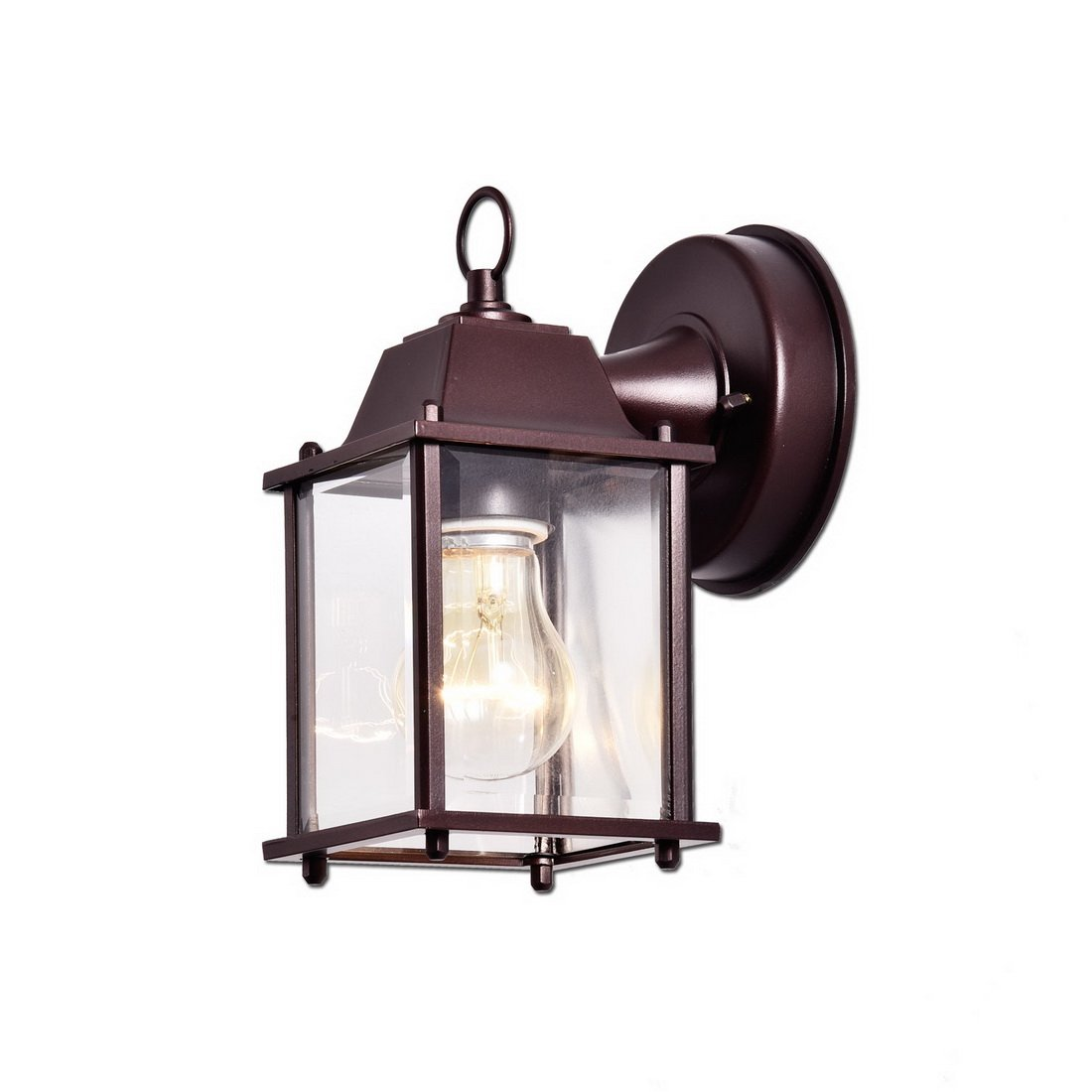 Truelite Vintage Style Outdoor Wall Sconce 1 Light Industrial Clear Glass Panels Wall Lanterns 0