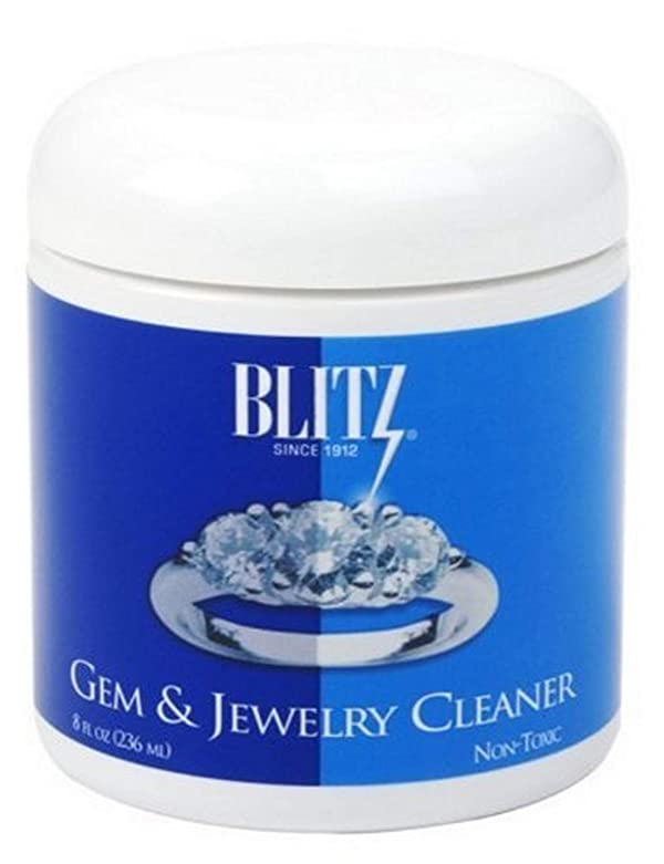 Blitz 651 Gem & Jewelry Cleaner with Basket & Brush for Fine Jewelry, 8 Ounces, 6-Pack (Tamaño: 6-Pack)