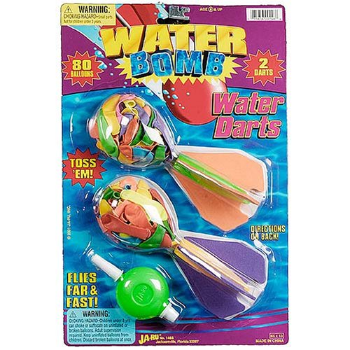 Water Bomb Water Darts - Set of 2 - Buy Water Bomb Water Darts - Set of 2 - Purchase Water Bomb Water Darts - Set of 2 (Ja-Ru, Toys & Games,Categories,Activities & Amusements,Gags & Practical Jokes)