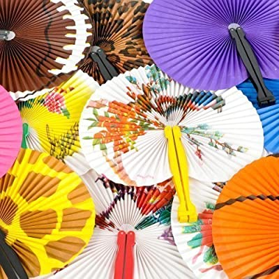 Folding Fan Assortment (4 dz) from Rhode Island Novelty
