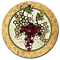 CounterArt Wine Not Lazy Susan Glass Serving Plate