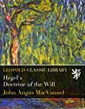 img - for Hegel's Doctrine of the Will book / textbook / text book