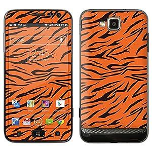 """atFoliX Designfolie """"Tiger"""" für Samsung Ativ S (GT-I8750) - ohne Displayschutzfolie"""