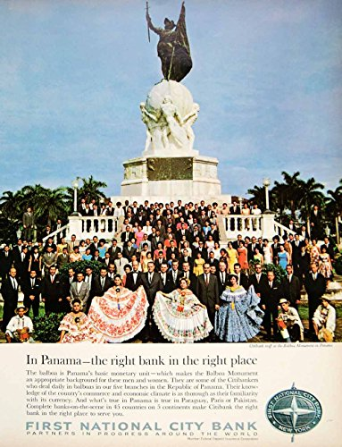 1966-ad-first-national-city-bank-citibank-staff-balboa-monument-panama-city-yfm3-original-print-ad