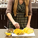 Taco Holder. Stainless Steel Racks. Each Stand Holds Three Hard or Soft Shells. Restaurant Style, Mexican Food. Easy Fill and Server. (2 Pack)