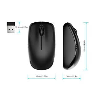 JETech 2.4Ghz Wireless Mobile Optical Mouse with 6-Month Battery Life