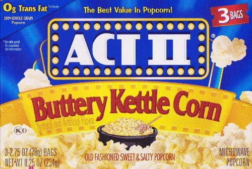 Act Ii Buttery Kettle Corn Microwave Popcorn 4 Boxes Of 3 (12 Bags Total)