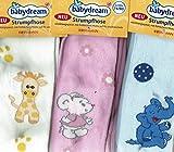 3 Baby Strumpfhose in 3 Farben rosa hellblau weiß mit Motiv...