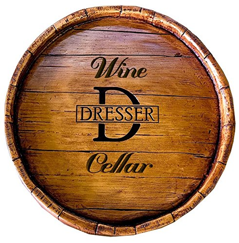 Wine Barrel Personalized Wine Cellar Sign (Wine Barrel Wall Decor compare prices)