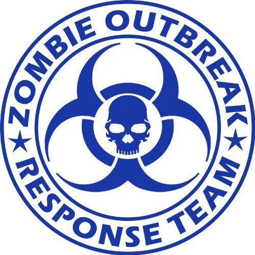 Zombie Outbreak Response Team NEW DESIGN Die Cut Vinyl Decal Sticker 5 Blue