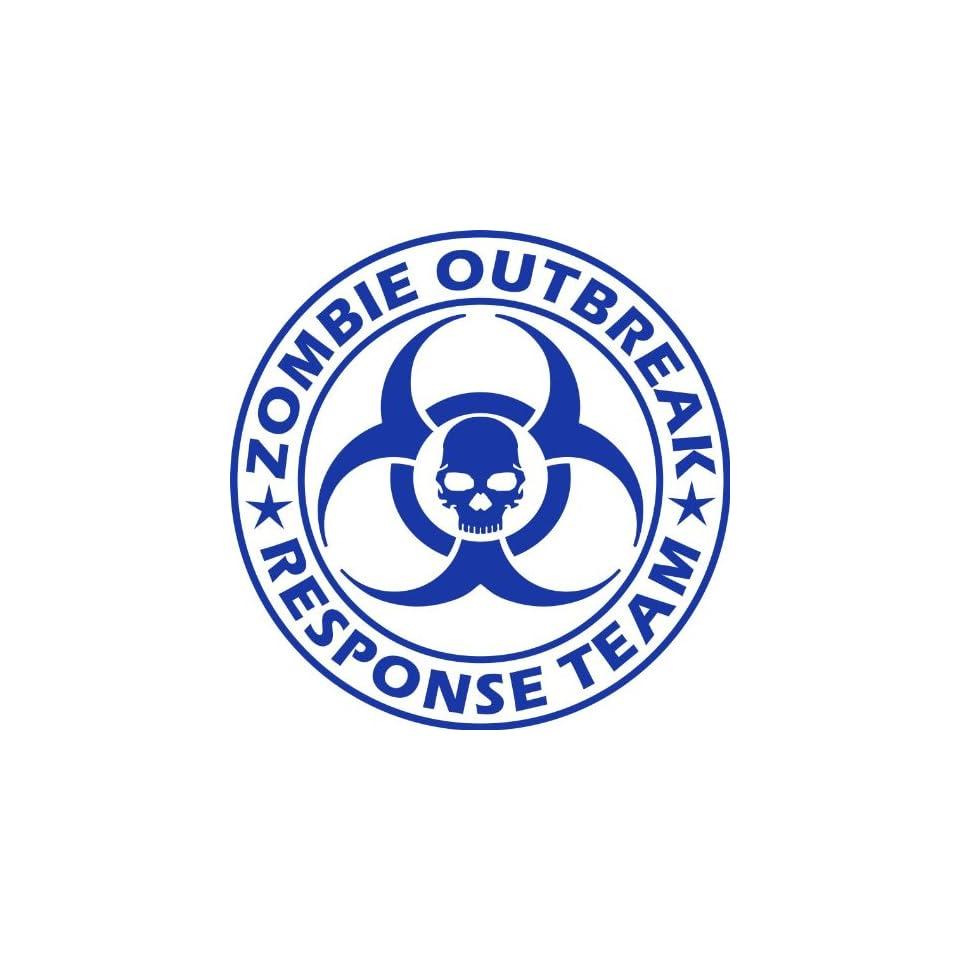 Zombie Outbreak Response Team NEW DESIGN Die Cut Vinyl Decal Sticker 5 Blue