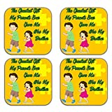 MeSleep Rakhi Wooden Coaster-Set Of 4 - B013LEGANW