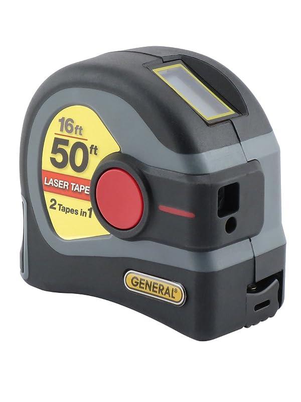 General Tools LTM1 2-in-1 Laser Tape Measure, 50' Laser Measure, 16' Tape Measure