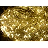 10M 100 LED WATERPROOF FAIRY STRING LIGHTS in WARM WHITE ** 8 CONTROLLABLE FUNCTIONS - IDEAL FOR CHRISTMAS, PARTYS, WEDDINGS, ETC **