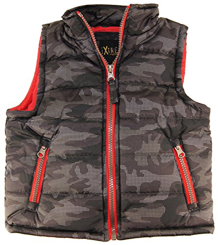Ixtreme Little Boys 4-7 Camo Puffer Vest, Gray, 6 back-704341