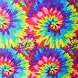 """Tie Dye Anti Pill Plaid Fleece Fabric, 60"""" Inches Wide - Sold By The Yard"""