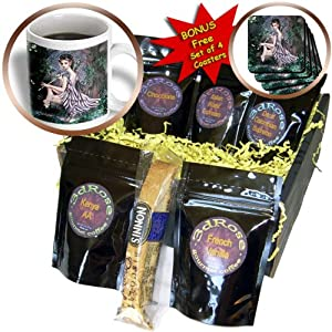 cgb_11646_1 Dream Essence Designs Fantasy - An mythical elf creature of the forest who plays a haunting melody on an enchanted flute - Coffee Gift Baskets - Coffee Gift Basket