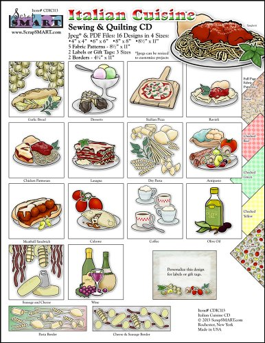 Scrapsmart - Italian Cuisine - Clip Art Software Collection - Jpeg & Pdf Files For Mac [Download]