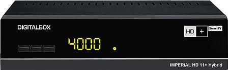 Digitalbox IMPERIAL HD 11+ hybride HD + SmartTV récepteur satellite incl. HD + carte pour 6 mois (HDMI, audio / vidéo RCA, Ethernet, PVR-ready, 2x USB 2.0, interrupteur d'alimentation) noir