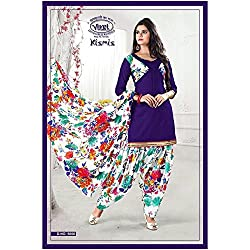 Vivel Women's Unstitched Cotton dress material (SS_6_Pack of 1_Large)