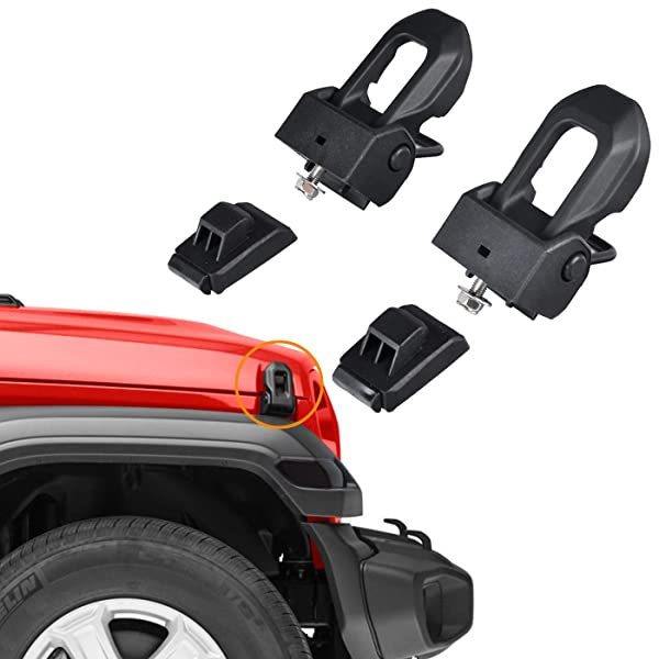 2018 Jeep Wrangler JL OEM Original Hood Latch Hood Catch for 2007-2018 Jeep Wrangler JK JL