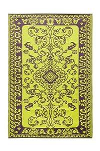 Achla Designs Classic Duotone Floor Mat, 4 by 6-Inch, Aubergine