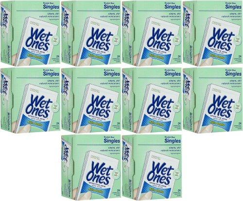 Wet Ones Extra Gentle Sensitive Skin Wipe Singles 240Ct (10 X 24Ct) front-758955