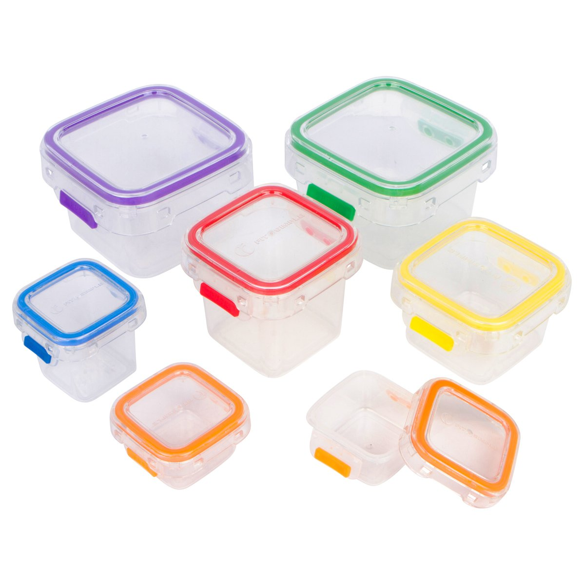 Fit Simple- 7 Piece Portion Control Containers. Store Food and Meals. 100 Percent Leak Proof. Perfect Portion Sized Containers. Comparable to 21 Day Fix. Recipes Included