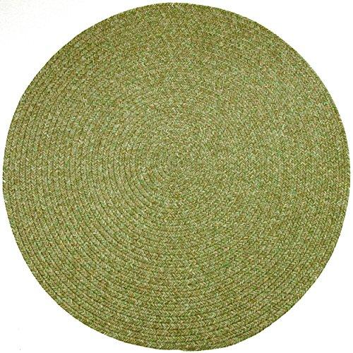 RRI Sabrina Tweed Round Indoor/Outdoor Braided Rug, 4-Feet, Bay Leaf