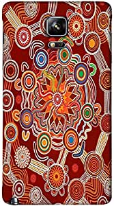Timpax protective Armor Hard Bumper Back Case Cover. Multicolor printed on 3 Dimensional case with latest & finest graphic design art. Compatible with Samsung Galaxy Note 4 Design No : TDZ-25468