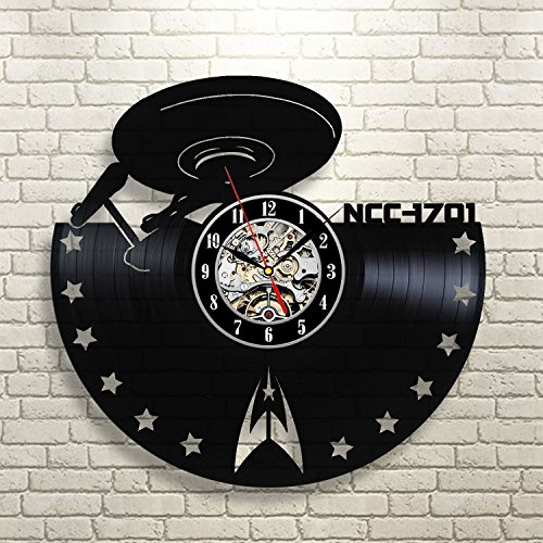 Star Trek Enterprise Vinyl Record Wall Clock