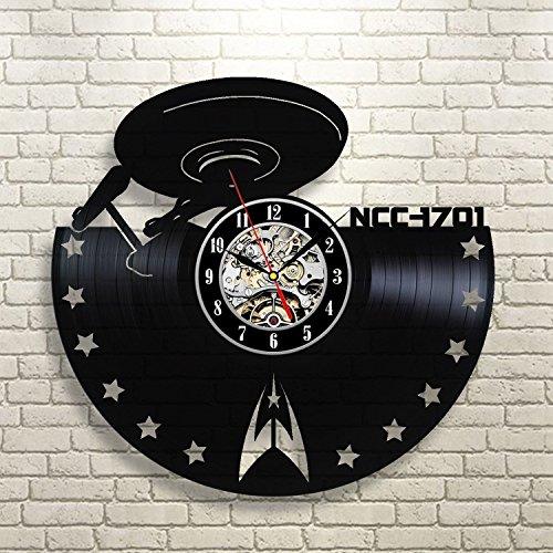 Star Trek Enterprise Vinyl Record Wall Clock