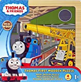 Thomas The Tank Engine My First 4 Piece Wooden Jigsaw Puzzle - Yellow Crane