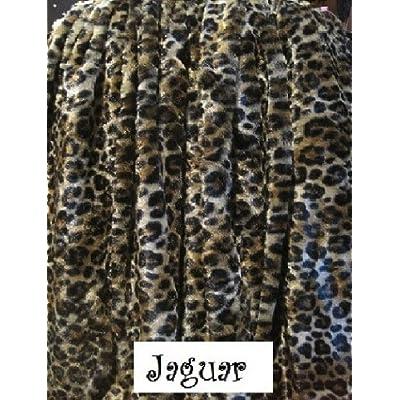 && Jaguar Animal Print Blanket Sherpa Faux Fur Queen Size