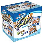 Hostess Chocolate Chip and Blueberry Mini Muffins are an American snack cake produced and sold by Hostess Brands. Each package contains 15-4 mini muffin pouches - wrapped for resale. Each mini muffin is loaded with flavor are produced and packaged to...