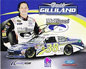 Buy AUTOGRAPHED 2012 David Gilliland #38 Mod Space Motorsports (Front Row) SIGNED NASCAR 8X10 Hero Card w  COA by Trackside Autographs