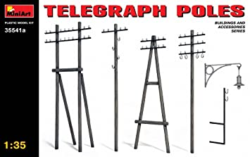 Mini Art 35541 Telegraph Poles 1:35 Maquette