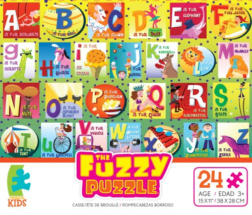 The Fuzzy Puzzle Circus Letters 24 Piece Jigsaw Puzzle By Ceaco - 1