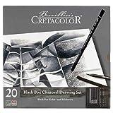 Cretacolor Black Box Charcoal Tin Set (Color: Black)
