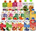 Organic Baby Food Stage 2 Fruit and Vegetable Blends 18-Flavor Variety Pack (18 Pouches) Includes Happy Baby, Sprout, Plum, Peter Rabbit, Earth's Best