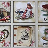 Luck and Luck Alice in Wonderland Sticker Sheet x 35 Wedding Party Drink Eat Me