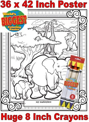 Just For Laughs World's Biggest Coloring Posters Combo- Jungle - 1