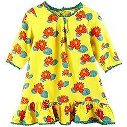 Snuggles Girls Aline Long Sleeve Dress - Yellow (6-12M)
